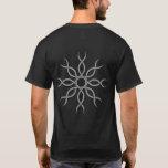 Grey Geometric knotwork back design 4 T-Shirt