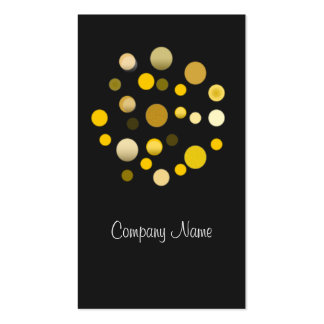 Grey Gold Dotted Modern Business Card Template