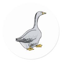 Grey Goose Round Sticker