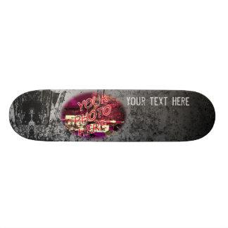 Grey Gradien with light Grunge Template Skateboard