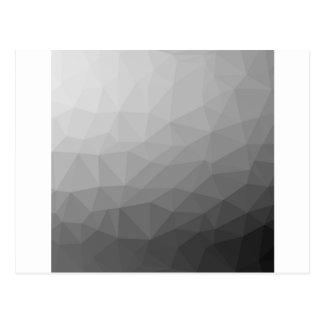 Grey Gradient Geometric Mesh Postcard