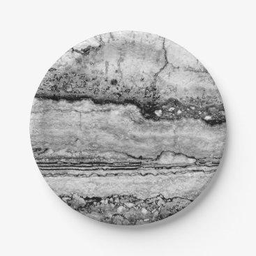 Beach Themed grey granite paper plate