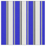 [ Thumbnail: Grey, Gray, Blue, White, and Black Colored Lines Fabric ]