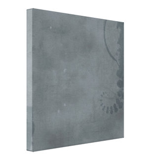 GREY GRAY DISTRESSED TEXTURED BACKGROUND FLORAL VI CANVAS PRINT