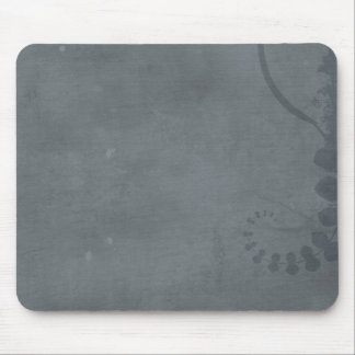 GREY GRAY DISTRESSED TEXTURED BACKGROUND FLORAL VI MOUSE PAD