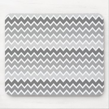 Professional Business Grey Gray Ombre Chevron Zigzag Pattern Mouse Pad