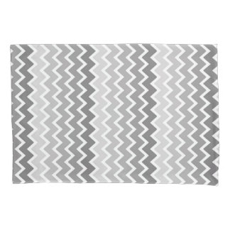 Grey Gray Ombre Chevron Zigzag Pattern Pillow Case