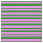 [ Thumbnail: Grey, Green, and Violet Colored Lines Pattern Fabric ]
