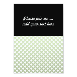 Grey Green and White Polka Dot Pattern Card