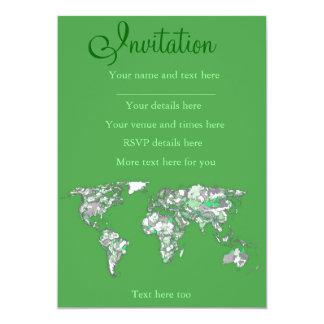 Grey green atlas card