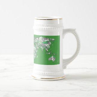 Grey green atlas mug