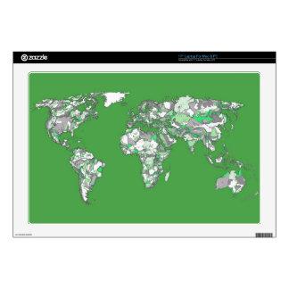 "Grey green atlas decals for 17"" laptops"