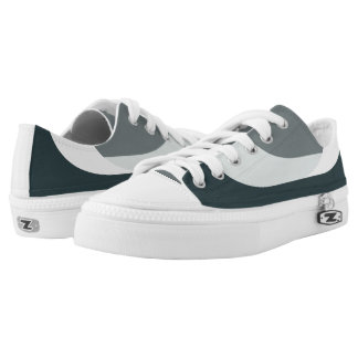 Grey/Green Casual Shoes - Low Top Sneakers Printed Shoes