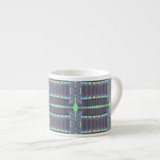 grey green deco pattern espresso cup