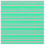 [ Thumbnail: Grey & Green Stripes Fabric ]