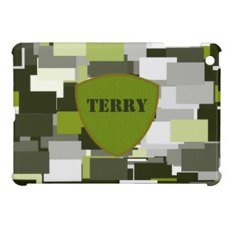Grey Green Urban Camouflage iPad Mini Cover