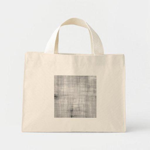 Grey Grunge Textured Mini Tote Bag