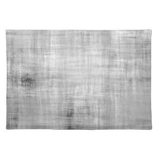 Grey Grunge Textured Cloth Place Mat