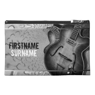 Grey Guitar Music Personalized Travel Accessory Ba Travel Accessory Bags
