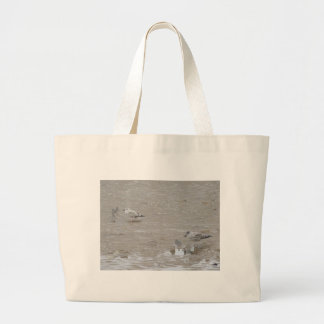 Grey Guys And Gulls Canvas Bags