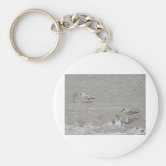 Grey Guys And Gulls Keychain