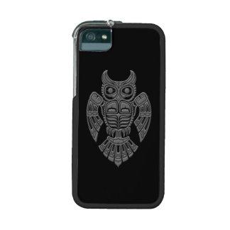 Grey Haida Spirit Owl on Black iPhone 5 Cases