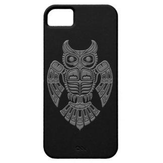 Grey Haida Spirit Owl on Black iPhone 5 Cover