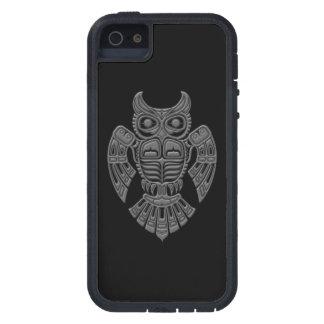 Grey Haida Spirit Owl on Black iPhone 5 Case