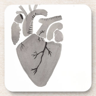 Grey Heart Coaster