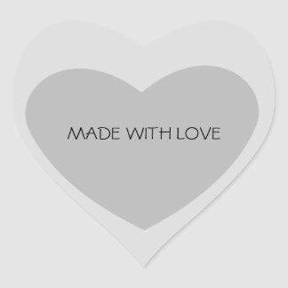 Grey Heart Heart Sticker