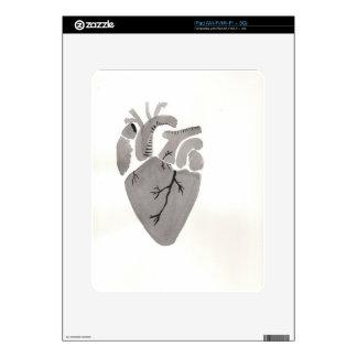 Grey Heart iPad Decal