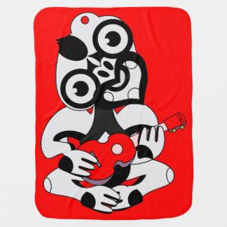 Grey Hei Tiki playing red ukelele Receiving Blanket