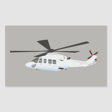 Professional Business Grey helicopter Sticker