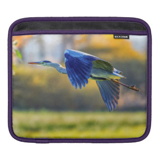Grey heron, ardea cinerea sleeve for iPads