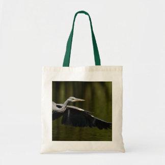 Grey heron canvas bag