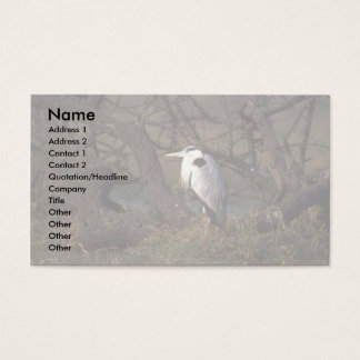 Grey Heron Business Card