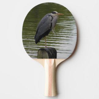 Grey Heron Ping Pong Paddle