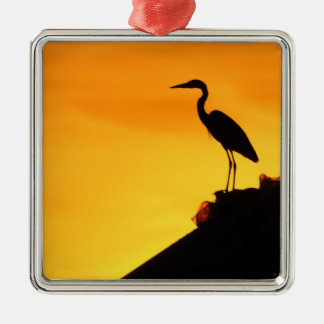 Grey Heron Silhouette Ornament