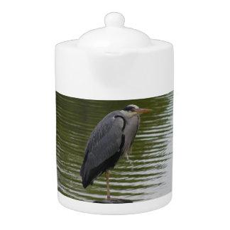 Grey Heron Teapot