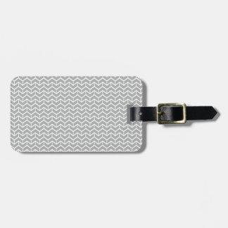 Grey Herringbone Bricks Bag Tag