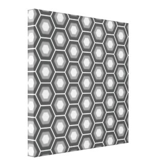 Grey Hex Tiled Canvas