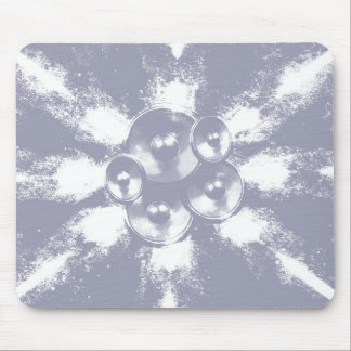 Grey high contrast music speakers mouse pad