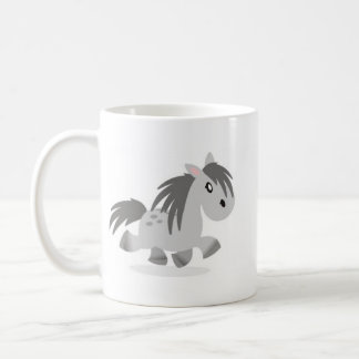Grey Highland Pony Cartoon Mug