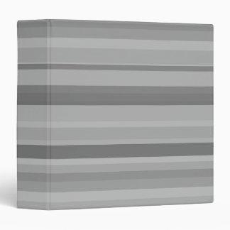 Grey horizontal stripes 3 ring binder