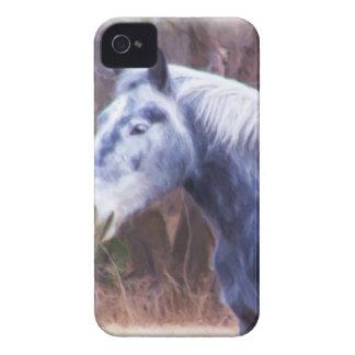 Grey Horse Blackberry Case