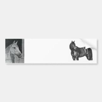 Grey Horse Car Bumper Sticker
