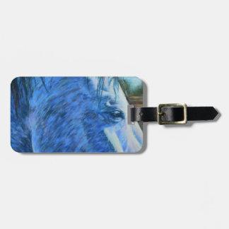 Grey Horse Customizable Bag Tag