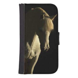 Grey Horse head Samsung S4 Wallet Case