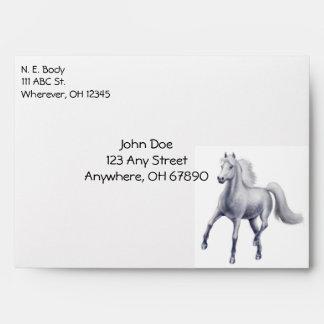 Grey Horse Lovers Envelope