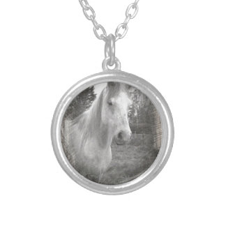 Grey Horse picture Necklaces